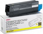 OKI TYPEC6 TONER YELLOW FOR C5100N 5000Pg ORIGINAL