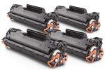 Compatibil cu HP CB435A / 35A Black Toner HOT-SET 4 Buc