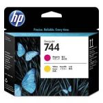 HP F9J87A 744 PRINTHEAD MAGENTA YELLOW Original