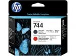 HP F9J88A 744 PRINTHEAD MATTE BLACK RED Original