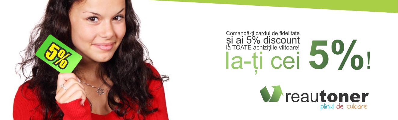 Promotie 5% pentru Toate Tonerele Originale ECO OEM